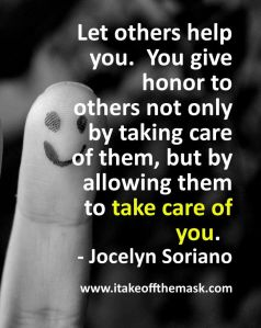 Let others take care of you